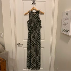 New York & Company Olive Green Jumpsuit